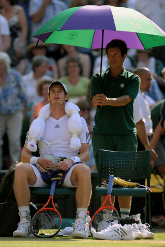 """It was so hot,"" said Andy Murray at Wimbledon in 2013.  It may look quaint but shade does help humans stay cooler."