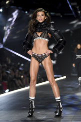 New Zealand model Georgia Fowler in the Victoria's Secret show in New York.