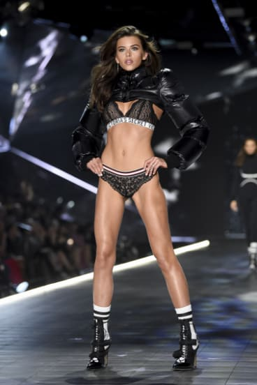 New Zealand model Georgia Fowler in the Victoria's Secret show in New York.