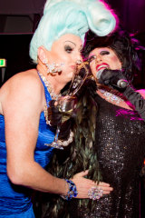 Sheila Bleige crash tackling Pollie Petrie at the DIVAs.