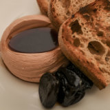 Mayfair's duck liver parfait with sherried prunes.