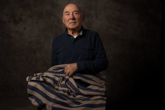 George Grojnowski still carried his jacket when he migrated to Australia in 1949.