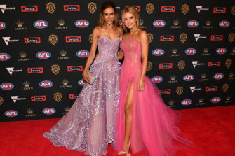 Rebecca Judd and Jessie Murphy at the 2018 'Gownlow', AKA the Brownlow Medal count.