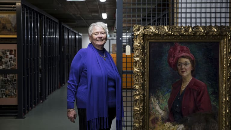 Wendy Michaels sponsored a portrait of Millicent Preston Stanley, NSW 's first female MP.