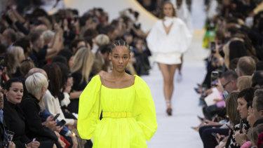 Highlighter hues at Valentino spring summer 2020.