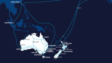 Vocuscables carry traffic from Australia and New Zealand to the United States via the Southern Cross Cable Network.