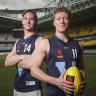 From friends to rivals, Matt Rowell and Noah Anderson prepare for AFL