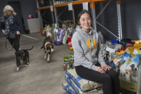 A dream come true: Pets of the Homeless founder Yvonne Hong at the new Pet Food Bank in Cheltenham.