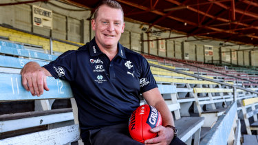 Brisbane Lions icon and newly-appointed Carlton senior coach, Michael Voss.