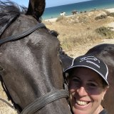 Jessica Blackwell in happier times with her horses.