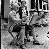Nora's parents, Hans and Sallie Heysen, in 1954.