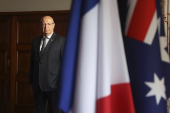 France's ambassador to Australia Jean-Pierre Thebault is on his way back to Paris.