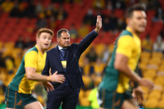 Wallabies coach Dave Rennie is making headway with his team.