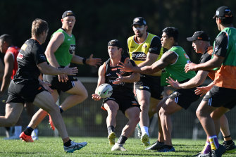 Harry Grant is keen to make an impression after heading to Wests Tigers on loan.