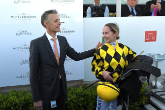 Trainer Mark Newnham has played a big role in Rachel King's short career, even signing her apprentice papers.