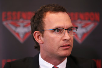 Xavier Campbell, chief executive at Essendon.