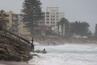 More beach erosion is possible along the NSW coast in coming days as a swell builds.