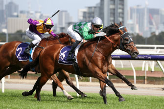 Jockey Jye McNeil and Amadeus take the win.