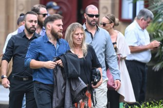 Friends and family at Jessica Camilleri's sentencing on Friday. She was jailed for a maximum of 21 years and seven months.