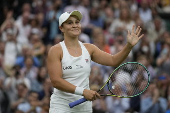 Ash Barty will take on 2018 champion Angelique Kerber in the semi-finals.
