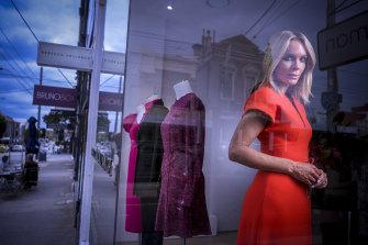 Staring into the unknown ... designer Rebecca Vallance.