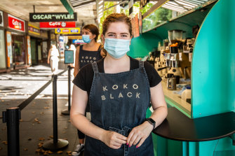 "Cafe stand worker Grace Forde said Melbourne's CBD was ""dead"" during the lockdown."