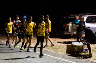 The ongoing COVID-19 pandemic saw the runners return to Alice Springs this year instead of contesting the New York Marathon, which would have been held Monday.
