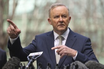 """Labor leader Anthony Albanese has defended the decision to """"parachute"""" Kristina Keneally into Fowler."""