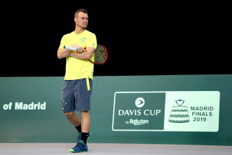 Lleyton Hewitt says rankings go out the window in the Davis Cup.