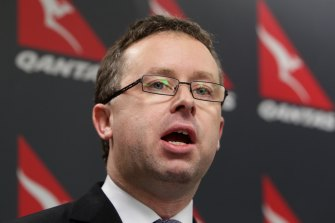 Alan Joyce called a press conference on October 29, 2011, to announce the grounding of all Qantas flights.