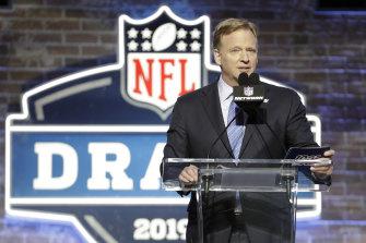NFL commissioner Roger Goodell at the 2019 draft.
