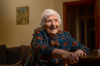 Marija Ruljancich turned 107 on Saturday.