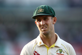 Mitch Marsh has not been given the scans on his ankle.