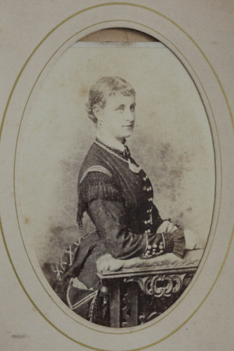 A 19th-century carte de visite from a Little Lonsdale Street brothel run by Caroline Hodgson, the original Madame Brussels.