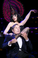 With occasional collaborator Barry Humphries.