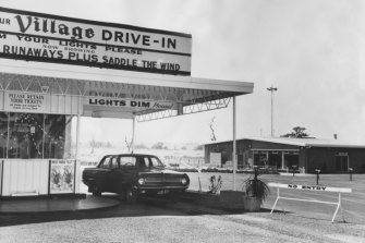 The Village Drive-In Theatre in Reservoir in 1969.