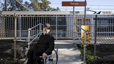 Glenn Redmayne at Tempe station, where the access ramp was going to close but will now remain accessible.