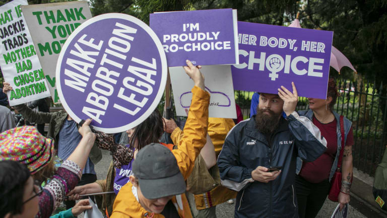 Pro-choice and anti-abortion activists came face-to-face in Brisbane earlier this month.