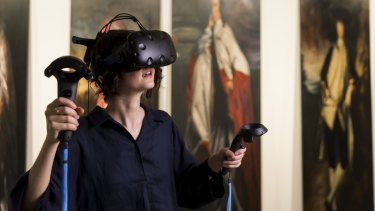 The exhibition includes virtual reality.