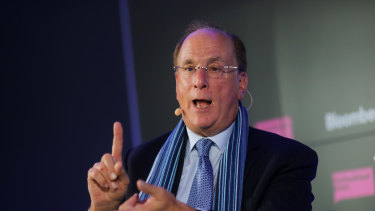 BlackRock CEO Larry Fink. The money manager announced it grew its assets under management by 12 per cent to $US7.81 trillion ($10.9 trillion) in the third quarter from a year earlier.