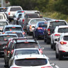 Easter holidaymakers travelling north from Brisbane at a crawl