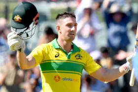 Back in business: Shaun Marsh made a century in the second ODI against India.