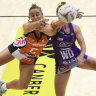 Giants survive punishing Super Netball clash in the capital