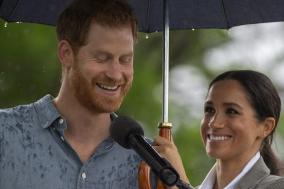'You are the backbone of this country': Harry and Meghan bring downpour to Dubbo