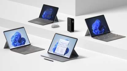 Microsoft unveils powerful Surface laptops, another two-screen phone