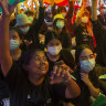 'Down with dictatorship': Protesters take to the streets of Bangkok