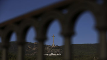 The Valley of the Fallen monument is seen at El Escorial Madrid.