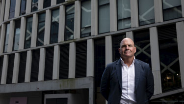 Chief Executive of start-up Kinetica, Paul Appleby, at Barangaroo in Sydney on October 30, 2019
