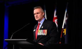 RSL NSW CEO Jon Black addressing the state annual congress.