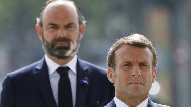 French President Emmanuel Macron with his Prime Minister, Edouard Philippe.